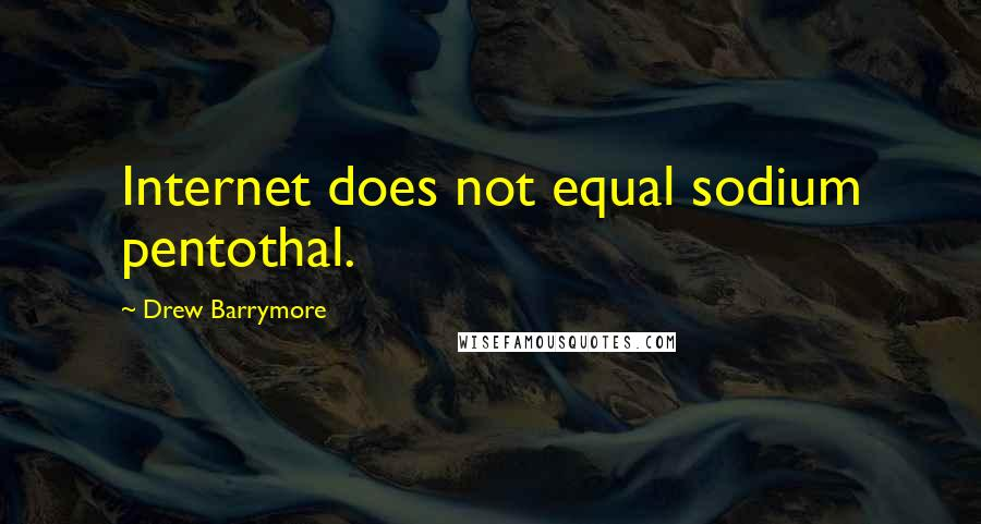 Drew Barrymore quotes: Internet does not equal sodium pentothal.