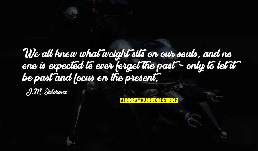 Drifted Best Friend Quotes By J.M. Sidorova: We all know what weight sits on our