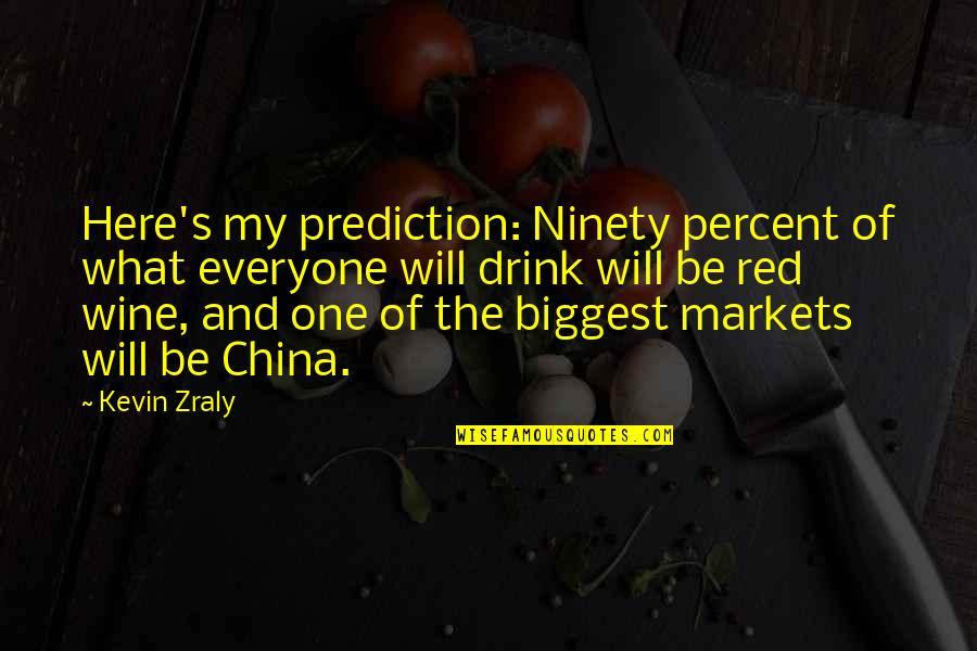 Drink Wine Quotes By Kevin Zraly: Here's my prediction: Ninety percent of what everyone
