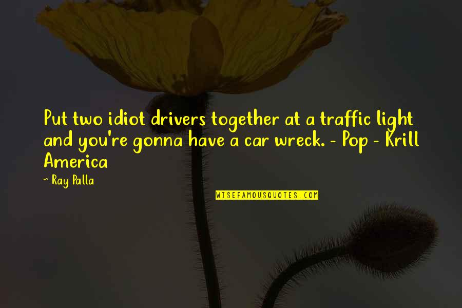 Drivers Quotes By Ray Palla: Put two idiot drivers together at a traffic
