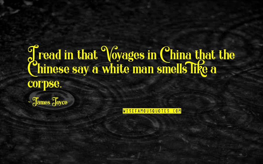 Driving To Clear Your Head Quotes By James Joyce: I read in that Voyages in China that