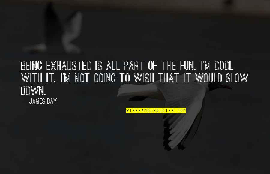 Dronken Mensen Quotes By James Bay: Being exhausted is all part of the fun.