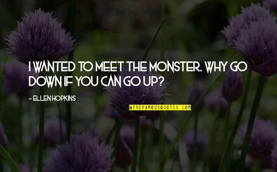 Drug Abuse And Addiction Quotes By Ellen Hopkins: I wanted to meet the monster. Why go