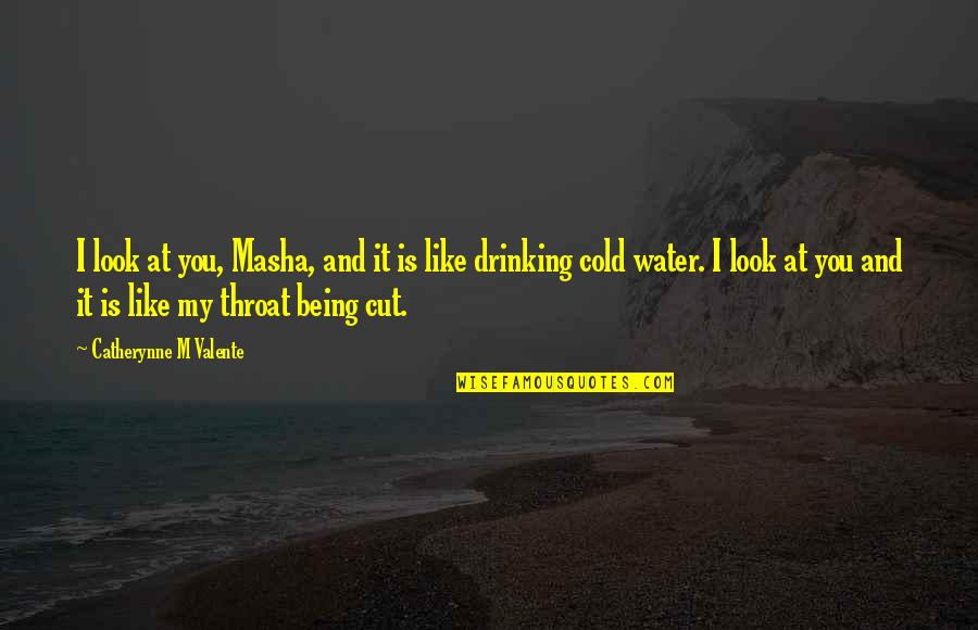 Dryn Quotes By Catherynne M Valente: I look at you, Masha, and it is