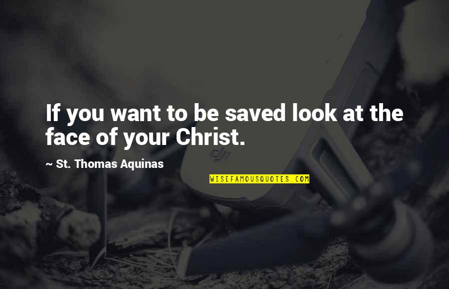 Duane Eddy Quotes By St. Thomas Aquinas: If you want to be saved look at