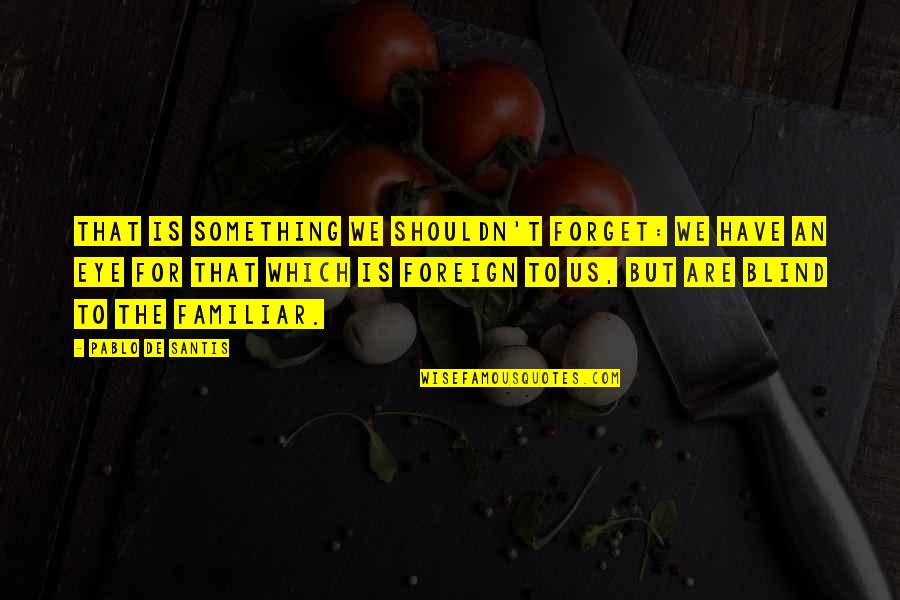 Duke Nukem Forever Quotes By Pablo De Santis: That is something we shouldn't forget: we have
