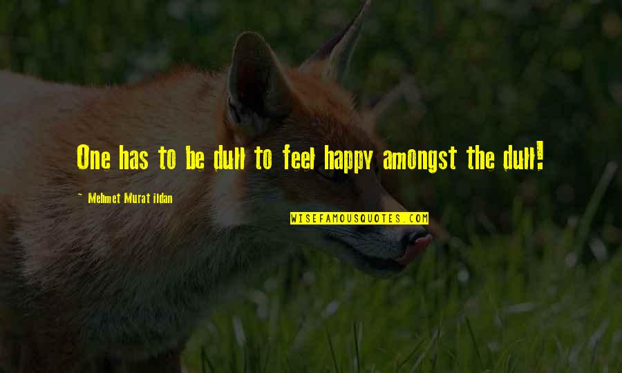 Dullness Quotes By Mehmet Murat Ildan: One has to be dull to feel happy