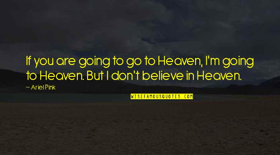 Dwarf Fortress Quotes By Ariel Pink: If you are going to go to Heaven,