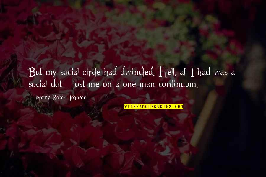 Dwindled Quotes By Jeremy Robert Johnson: But my social circle had dwindled. Hell, all
