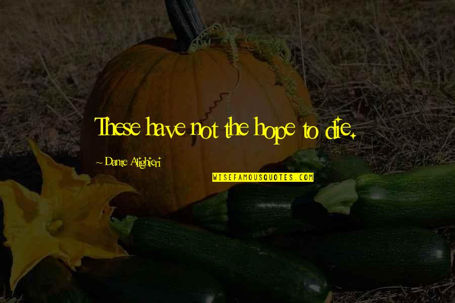 Dying Death Quotes By Dante Alighieri: These have not the hope to die.