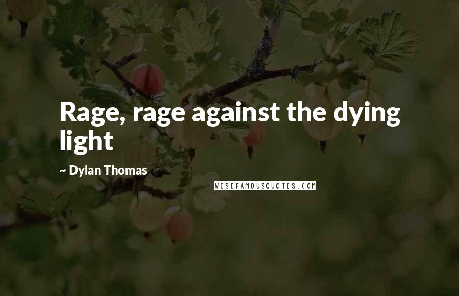 Dylan Thomas quotes: Rage, rage against the dying light