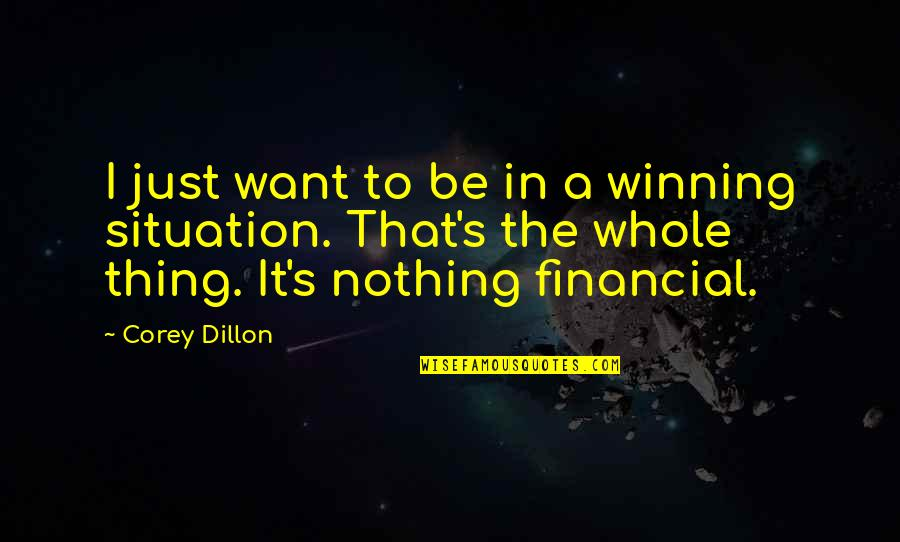 E J Corey Quotes By Corey Dillon: I just want to be in a winning