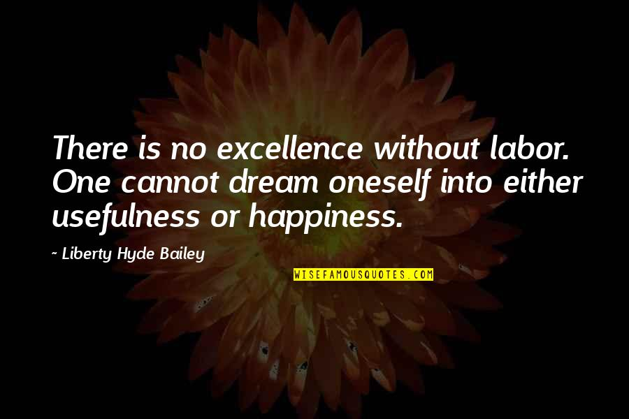 E.k. Bailey Quotes By Liberty Hyde Bailey: There is no excellence without labor. One cannot