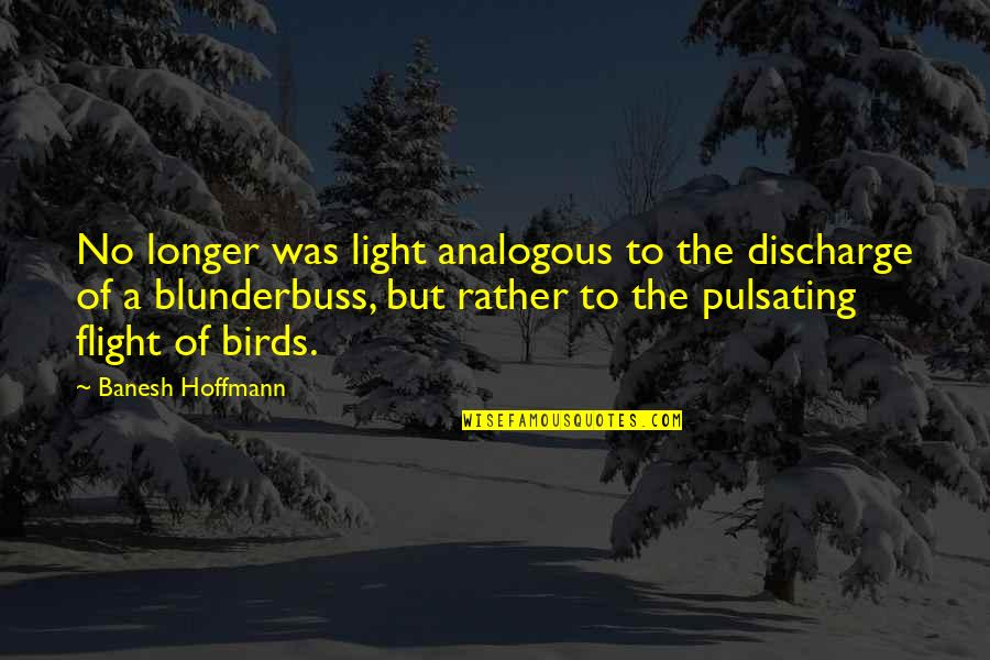 E.t.a. Hoffmann Quotes By Banesh Hoffmann: No longer was light analogous to the discharge