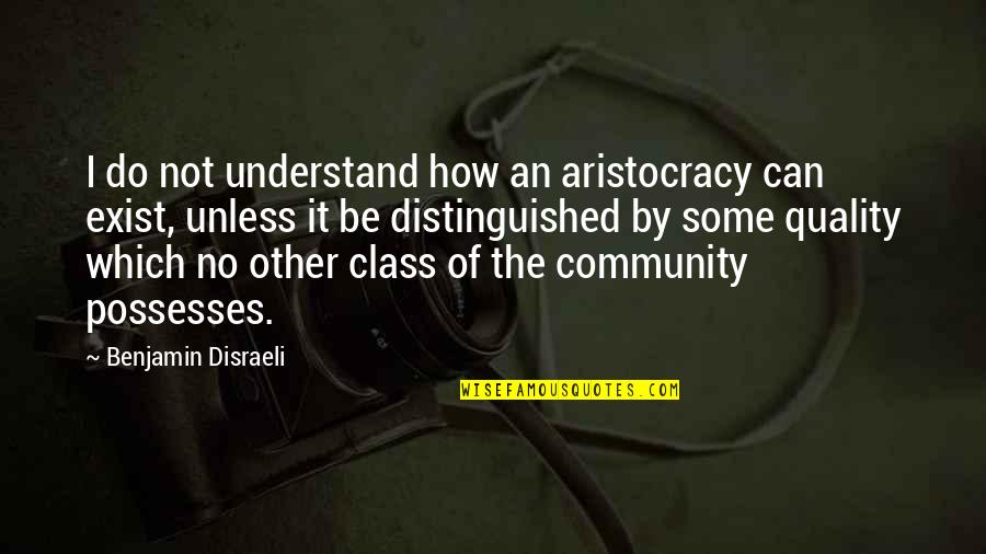 Earl Klugh Quotes By Benjamin Disraeli: I do not understand how an aristocracy can