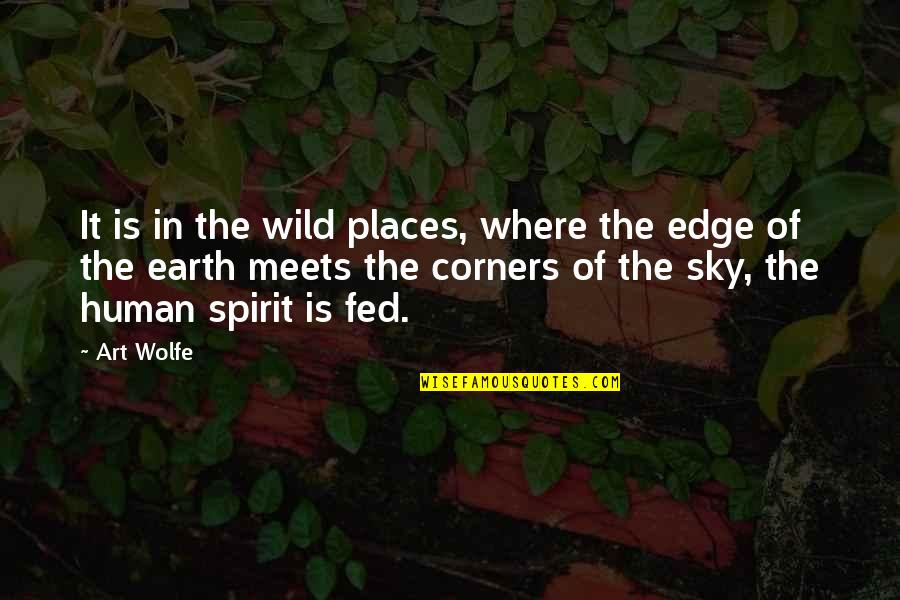 Earth And Art Quotes By Art Wolfe: It is in the wild places, where the