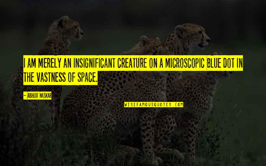 Earth And Universe Quotes By Abhijit Naskar: I am merely an insignificant creature on a