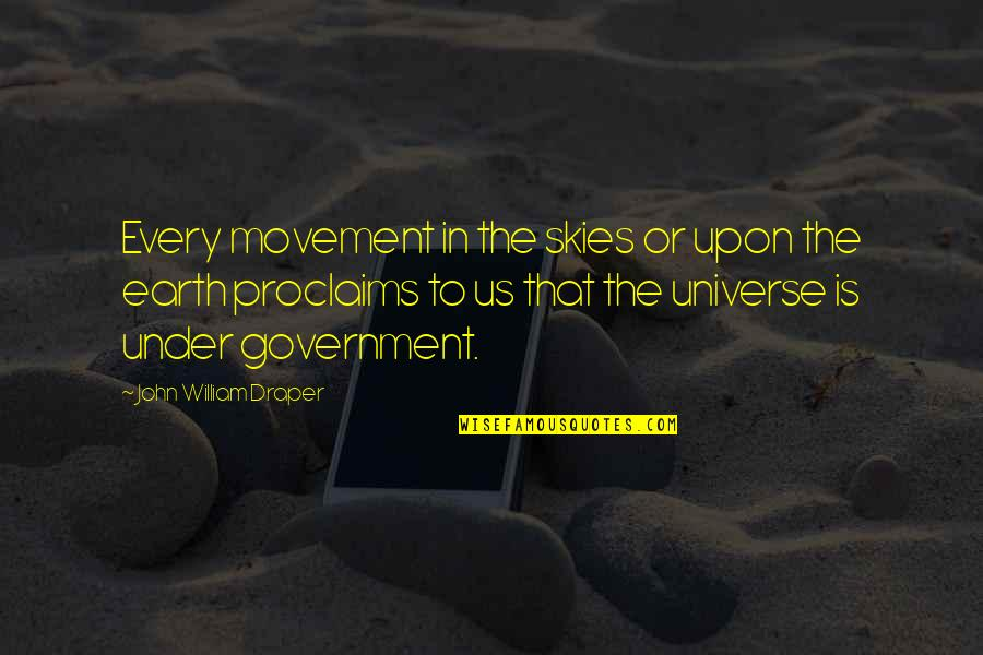 Earth And Universe Quotes By John William Draper: Every movement in the skies or upon the
