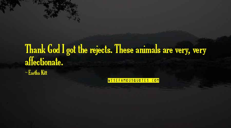 Eartha Quotes By Eartha Kitt: Thank God I got the rejects. These animals