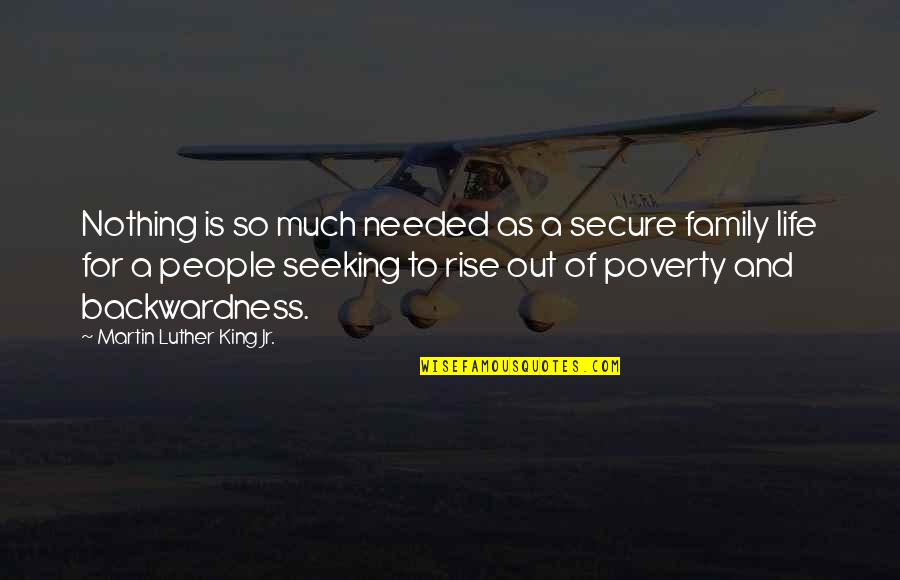 Earthquake In Japan Quotes By Martin Luther King Jr.: Nothing is so much needed as a secure