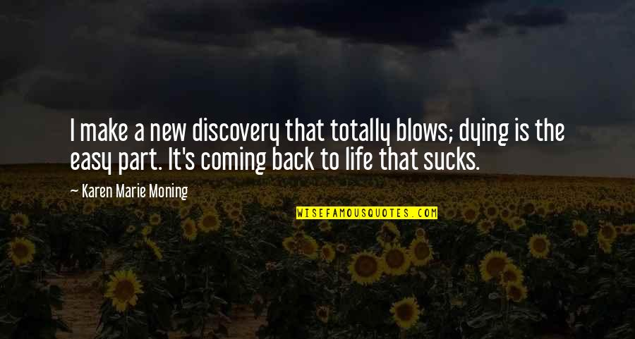 Easy Living Quotes By Karen Marie Moning: I make a new discovery that totally blows;