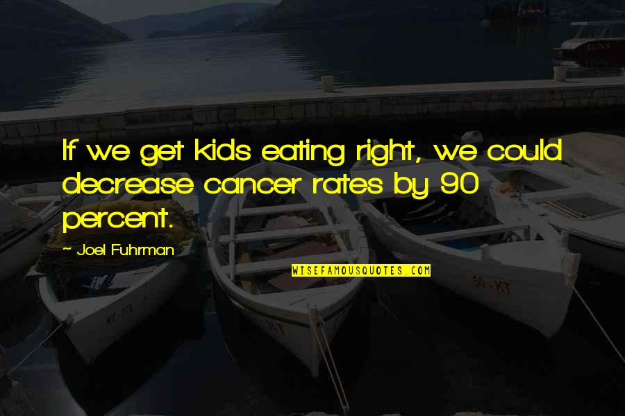 Eating Right Quotes By Joel Fuhrman: If we get kids eating right, we could