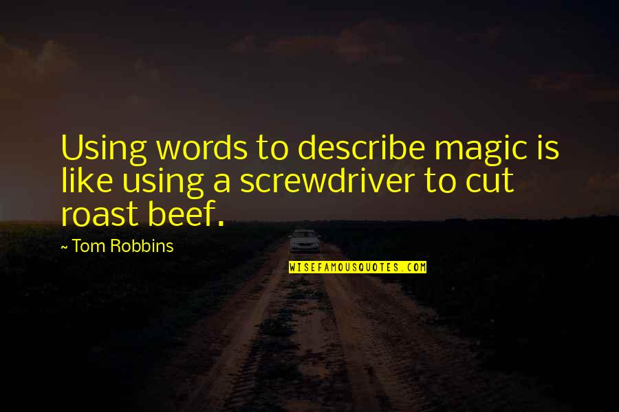 Ebay John Donahoe Quotes By Tom Robbins: Using words to describe magic is like using