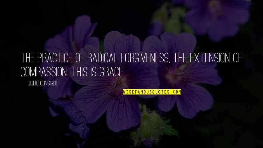 Ecg Love Quotes By Jiulio Consiglio: The practice of radical forgiveness, the extension of