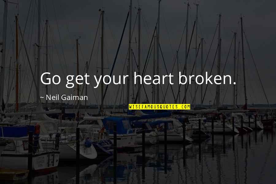 Eclipse Disable Automatic Quotes By Neil Gaiman: Go get your heart broken.