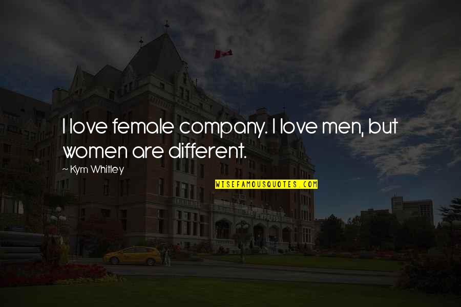 Ecological Succession Quotes By Kym Whitley: I love female company. I love men, but