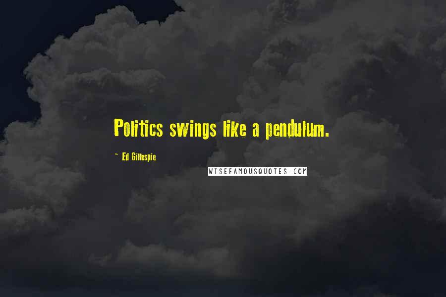Ed Gillespie quotes: Politics swings like a pendulum.