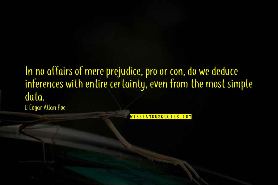 Edgar Allan Poe Quotes By Edgar Allan Poe: In no affairs of mere prejudice, pro or