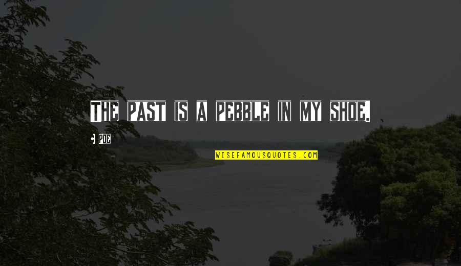 Edgar Allan Poe Quotes By Poe: The past is a pebble in my shoe.