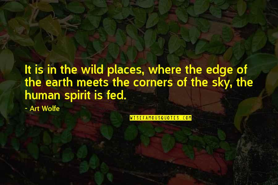 Edge Of The Earth Quotes By Art Wolfe: It is in the wild places, where the