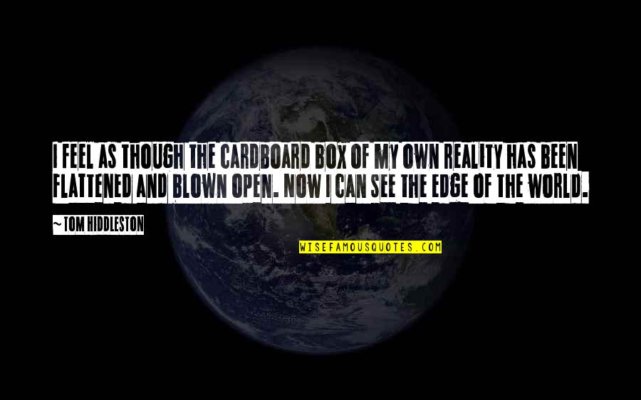 Edge Of The World Quotes By Tom Hiddleston: I feel as though the cardboard box of