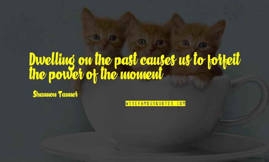 Educated But Not Well Mannered Quotes By Shannon Tanner: Dwelling on the past causes us to forfeit