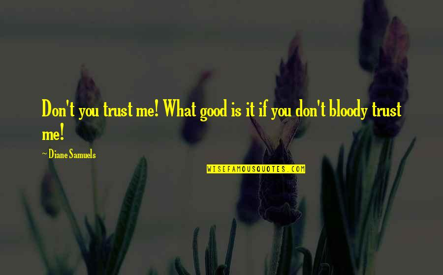 Education Is Good Quotes By Diane Samuels: Don't you trust me! What good is it
