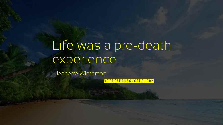 Education Mottos Quotes By Jeanette Winterson: Life was a pre-death experience.