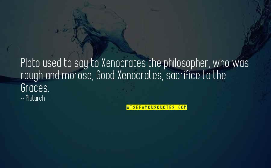 Education Of Sonny Carson Quotes By Plutarch: Plato used to say to Xenocrates the philosopher,