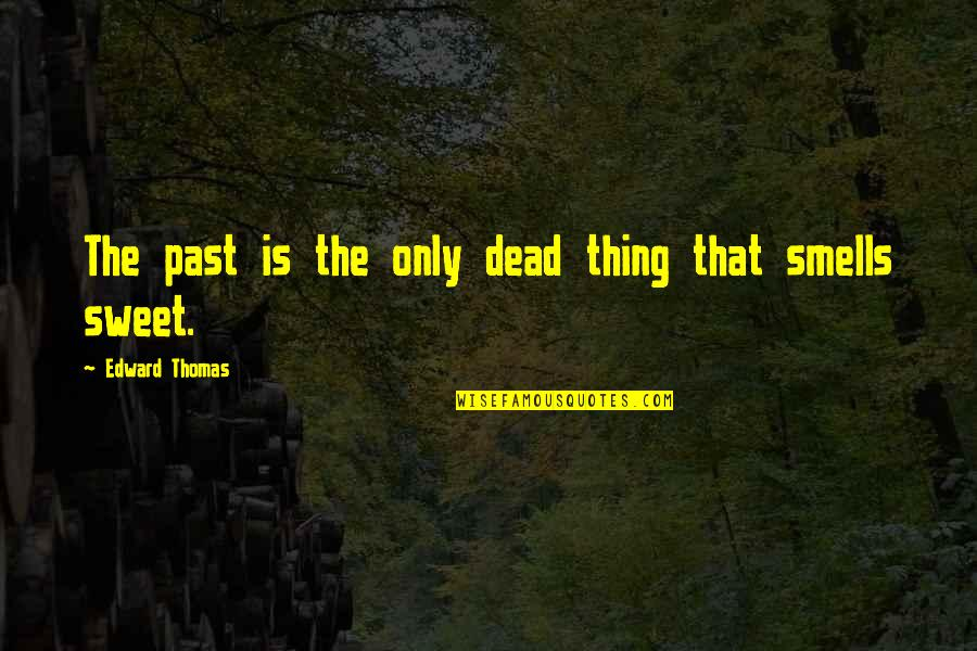 Edward Thomas Quotes By Edward Thomas: The past is the only dead thing that