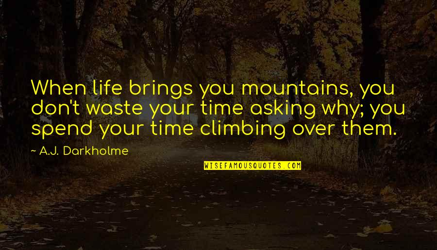 Effort And Hard Work Quotes By A.J. Darkholme: When life brings you mountains, you don't waste