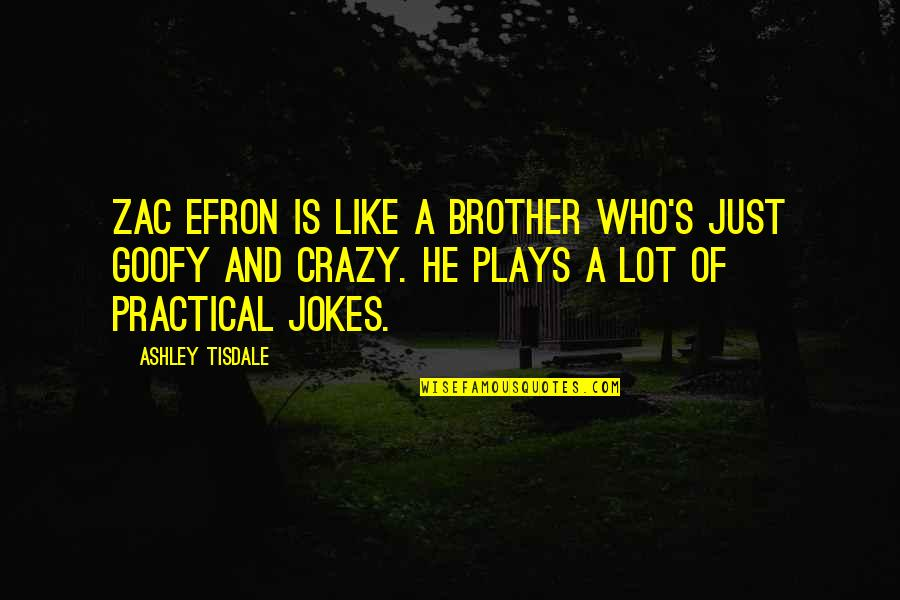 Efron Quotes By Ashley Tisdale: Zac Efron is like a brother who's just
