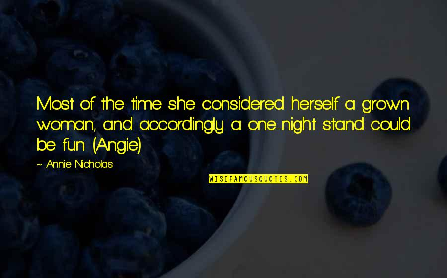 Eguchi Quotes By Annie Nicholas: Most of the time she considered herself a