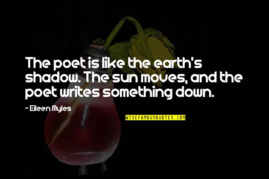 Eileen Myles Quotes By Eileen Myles: The poet is like the earth's shadow. The