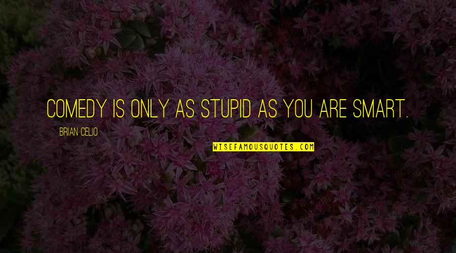 El Contador Quotes By Brian Celio: Comedy is only as stupid as you are