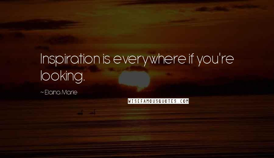 Elaina Marie quotes: Inspiration is everywhere if you're looking.