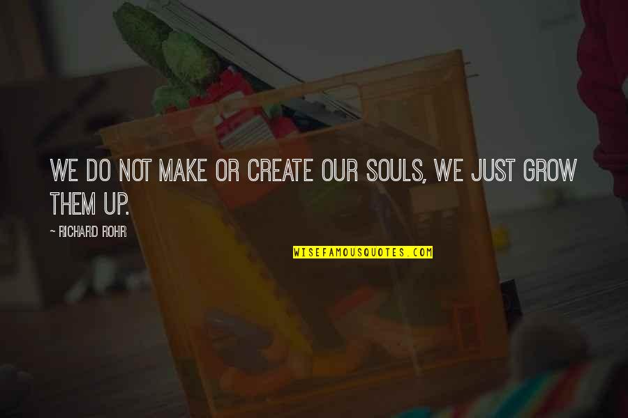 Elden Quotes By Richard Rohr: We do not make or create our souls,