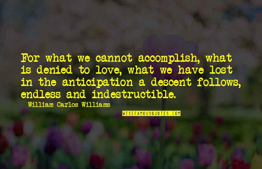 Electric Chair Quotes By William Carlos Williams: For what we cannot accomplish, what is denied