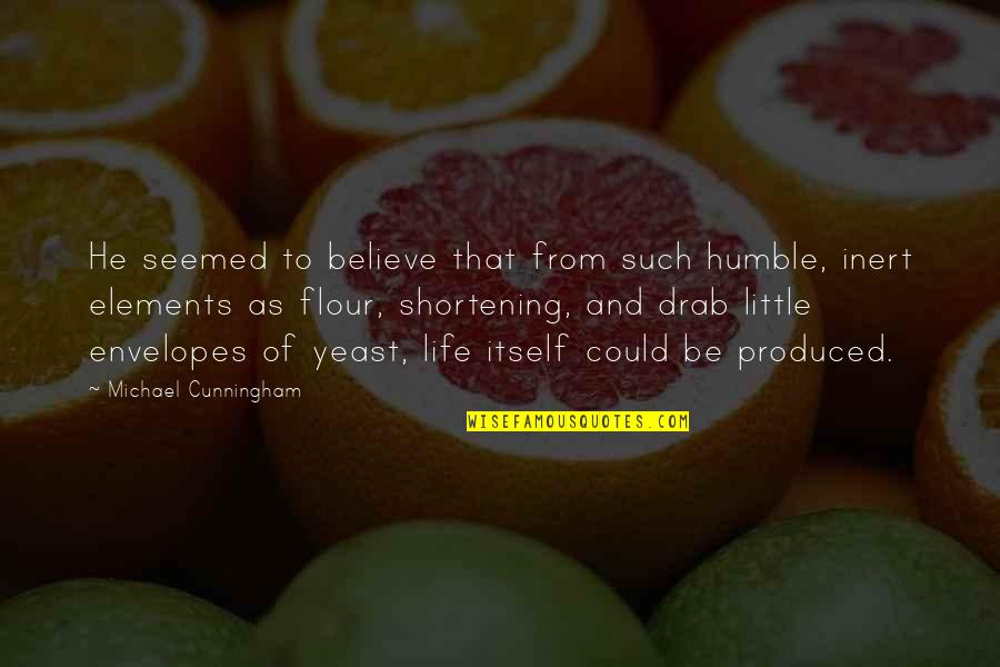 Elements Of Life Quotes By Michael Cunningham: He seemed to believe that from such humble,