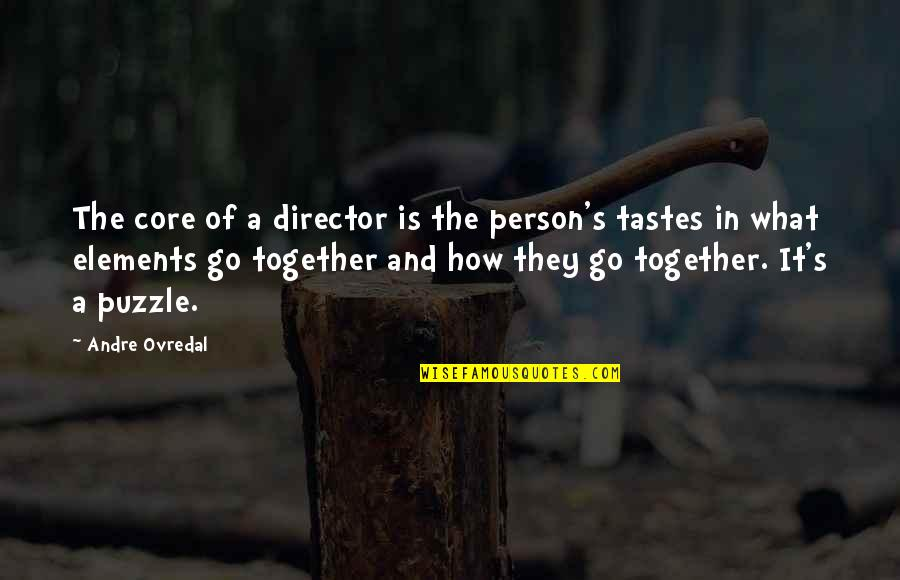 Elements Quotes By Andre Ovredal: The core of a director is the person's
